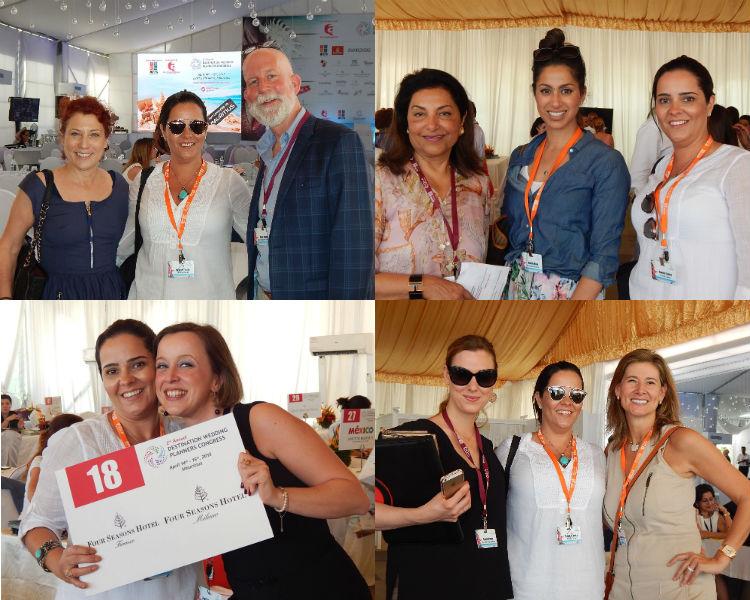 Durante os dois dias do evento, tive a oportunidade de conversar com wedding planners e profissionais do mercado mundial, como (de cima para baixo, da esquerda para a direita): Marcy Blum e David Beahm; Nikki Khan e Madihak; Elisa Peroli; Heather Jerue e Alejandra Poupel