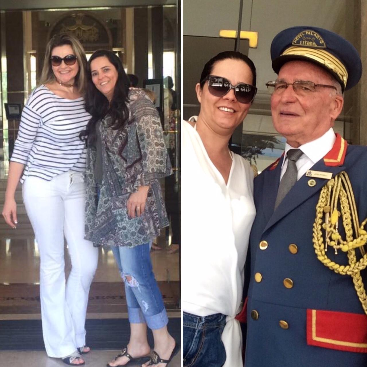 Com minha querida amiga Fabiana Heisler e o porteiro mais fofo de Portugal