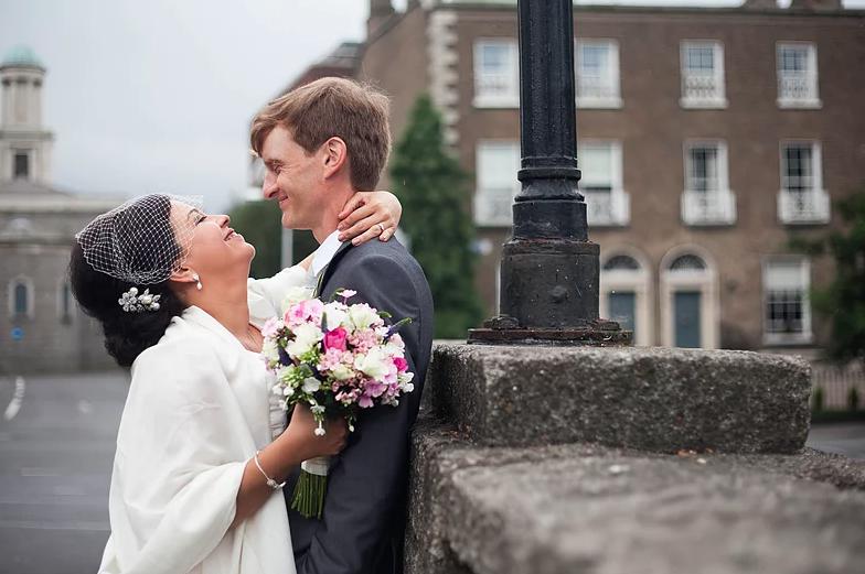 Amei esta foto do casamento de Peca e Liam